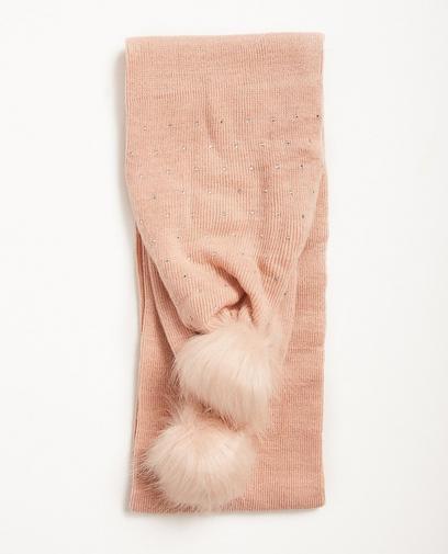 Sjaal met strass + pompons